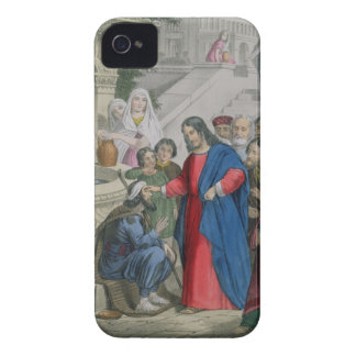 Jesus Gives Sight to One Born Blind, from a bible iPhone 4 Case-Mate Case