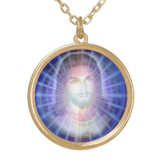 jesus gold plated necklace