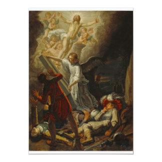 Jesus has Risen 13 Cm X 18 Cm Invitation Card