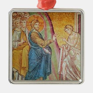Jesus healing a leper christmas ornament