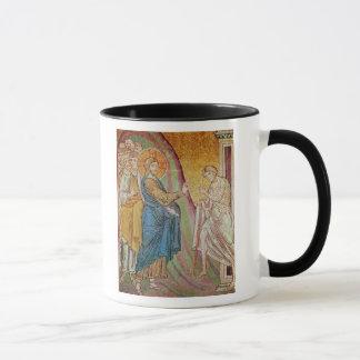 Jesus healing a leper mug