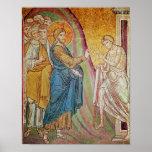 Jesus healing a leper poster