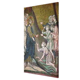 Jesus Healing the Crippled and the Blind Canvas Print