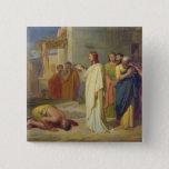 Jesus Healing the Leper, 1864 15 Cm Square Badge