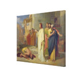 Jesus Healing the Leper, 1864 Canvas Print