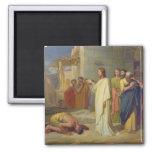 Jesus Healing the Leper, 1864 Magnet