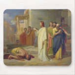 Jesus Healing the Leper, 1864 Mouse Mat