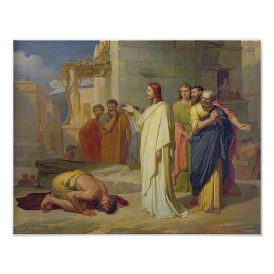 Jesus Healing the Leper, 1864 Poster