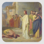 Jesus Healing the Leper, 1864 Square Sticker