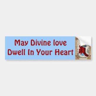 Jesus heart bumper sticker