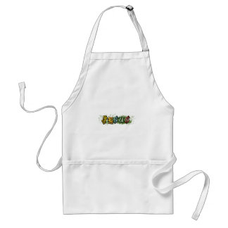 Jesus hiphop yellow splash by christianstores adult apron