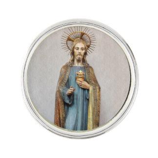 Jesus Holding Golden  Sacred Heart Lapel Pin