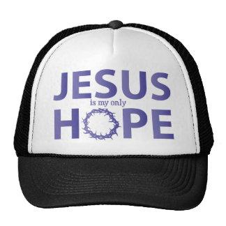jesus hope blue gradient cap