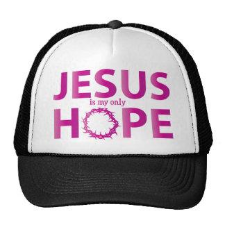 jesus hope hot pink gradient cap