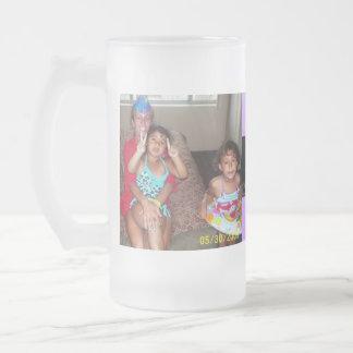 Jesus, Hope, Jada, Jordan Frosted Glass Mug