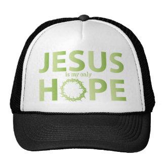 jesus hope lime green gradient cap