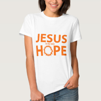 jesus hope orange tee shirt