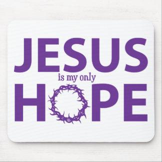 jesus hope purple mouse pad