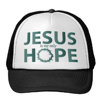jesus hope teal gradient cap