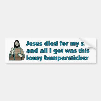 Jesus Humor Bumper Sticker