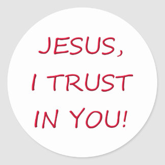 Jesus I trust in you Sticker