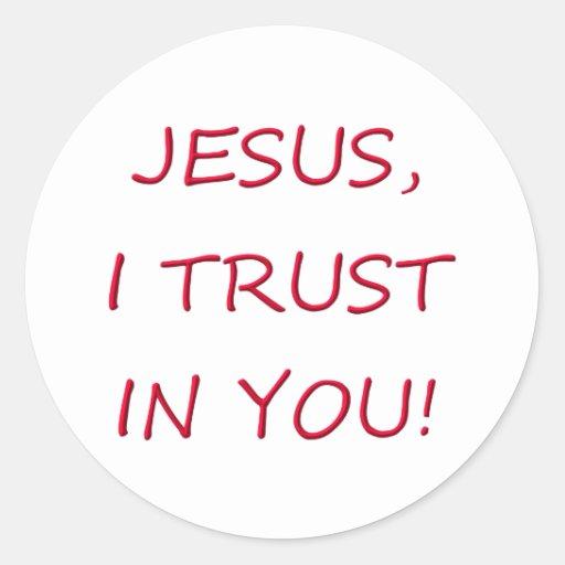 Jesus I trust in you Sticker