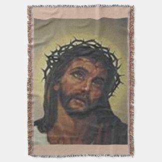 JESUS IMAGE CHRISTIAN THROW BLANKET