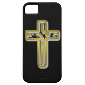 Jesus in Cross Gold for Iphone 5 Barely There iPhone 5 Case