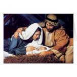 Jesus in Manger Card