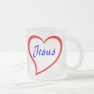 Jesus In My Heart Frosted Glass Mug