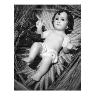 Jesus in the crib 21.5 cm x 28 cm flyer
