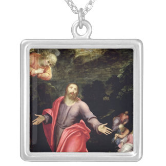 Jesus in the Garden of Olives, c.1590-95 Silver Plated Necklace