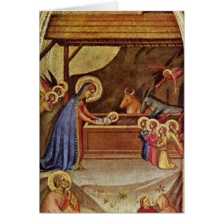 Jesus in the manger - Bernardo Daddi Greeting Card