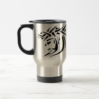 Jesus ink, HE WAS WOUNDED FOR OUR TRANSGRESSIONS! Stainless Steel Travel Mug