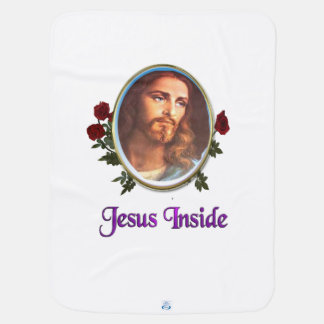 Jesus inside Christian products Baby Blankets
