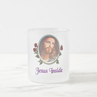 Jesus inside Christian products 10 Oz Frosted Glass Coffee Mug