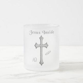 Jesus Inside Frosted Glass Mug