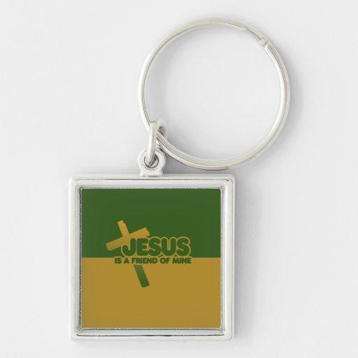 Jesus is a friend of mine keychain