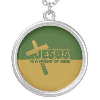 Jesus is a friend of mine round pendant necklace
