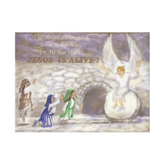 Jesus is Alive stretched canvas Gallery Wrapped Canvas