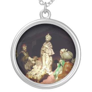 Jesus Is Born Round Pendant Necklace