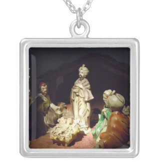 Jesus Is Born Square Pendant Necklace
