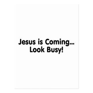 Jesus Is Coming Look Busy Postcard