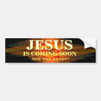JESUS IS COMING SOON Bumper Sticker