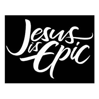 Jesus is Epic Lettering Christian Religious Postcard