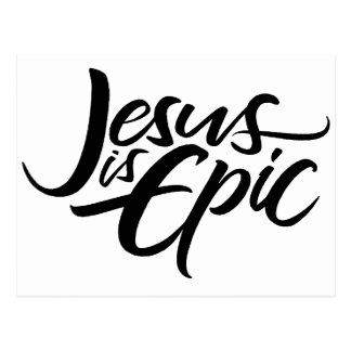 Jesus is Epic Lettering Religious Christian Modern Postcard