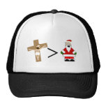 Jesus is Greater than Santa Mesh Hats