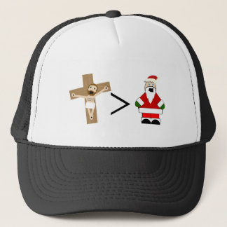 Jesus is Greater than Santa Trucker Hat