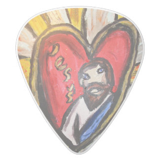 jesus is light shine white delrin guitar pick