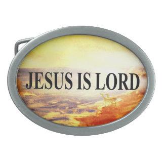 Jesus is Lord Oval Belt Buckle